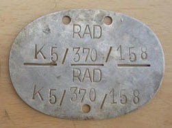 German Motorcycle Battalion Dog Tag